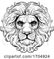 Lion Leo Fierce Lions Head Woodcut Animal Icon