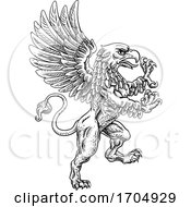 Griffon Rampant Gryphon Coat Of Arms Crest Mascot