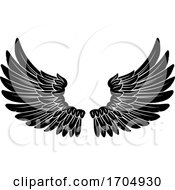 Poster, Art Print Of Wings Angel Or Eagle Feathers Pair Illustration