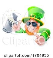 Poster, Art Print Of Leprechaun St Patricks Day Cartoon In Shades Sign