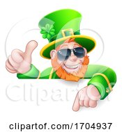 Leprechaun St Patricks Day Cool Shades Cartoon