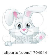 Easter Bunny Rabbit Cartoon Sign