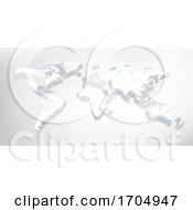 Poster, Art Print Of World 3d Map Digital Technology Background