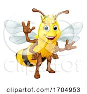 Queen Honey Bumble Bee Bumblebee In Crown Cartoon