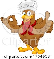 Chef Chicken Rooster Cockerel Perfect Cartoon