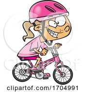 Clipart Cartoon Girl Riding A Bike by toonaday