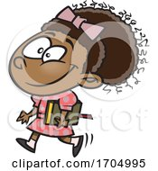 Clipart Cartoon Girl Off To Church