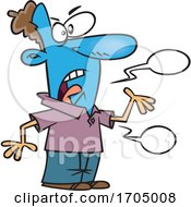 Clipart Cartoon Man Blue In The Face by toonaday