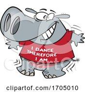 Clipart Cartoon Dancing Hippo