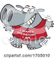 Clipart Cartoon Dancing Hippo