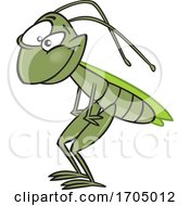 Clipart Cartoon Grasshopper