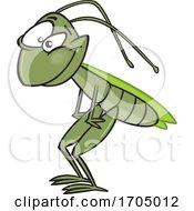 Clipart Cartoon Grasshopper