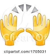 Poster, Art Print Of Clapping Or Raised Emoji Hands