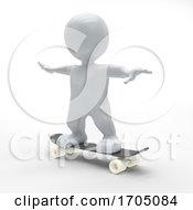 3D Morph Man Skateboarding