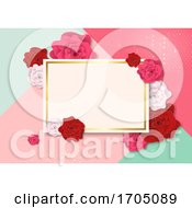 Blank Card On A Rose Background