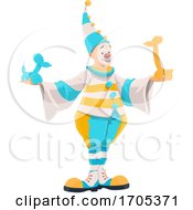 Clown Balloon Artist by Vector Tradition SM