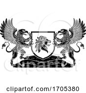 Coat Of Arms Crest Lion Griffin Or Griffon Shield
