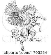 Pegasus Rearing Rampant Wings Coat Of Arms Horse
