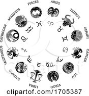 Astrological Zodiac Horoscope Star Signs Symbols