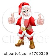Santa Claus Thumbs Up Christmas Cartoon Character