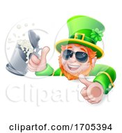Leprechaun St Patricks Day Drink Shades Sign