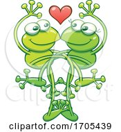 Poster, Art Print Of Tangled Frogs In Love
