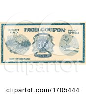 Vintage American Food Coupon Drawing