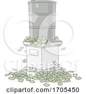 Poster, Art Print Of Oil Barrel And Cash