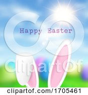 Easter Bunny Ears On Defocussed Background