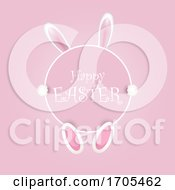 Poster, Art Print Of Happy Easter Background With Bunny Ears