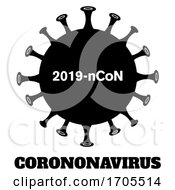 Black And White Coronavirus