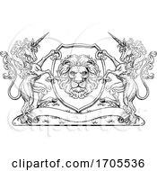 Crest Unicorn Horse Coat Of Arms Lion Royal Shield