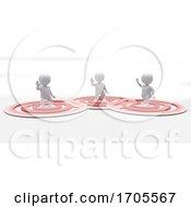 Poster, Art Print Of 3d Morph Man Social Distancing