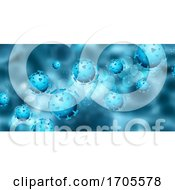 Abstract Medical Banner With Covid 19 Virus Cells by KJ Pargeter
