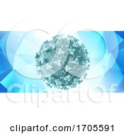 Medical Banner Design With Halfone Dot Covid 19 Virus Cell by KJ Pargeter