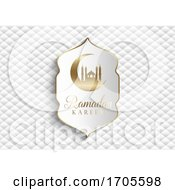 Elegant Ramadan Kareem Background In White And Gold by KJ Pargeter