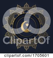Ramadan Kareem Background With Decorative Circular Frame