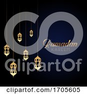 Ramadan Kareem Background With Hanging Lanterns by KJ Pargeter