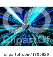 3D Abstract Background With Hyperspace Design