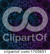 Decorative Background With Colourful Mandala Design