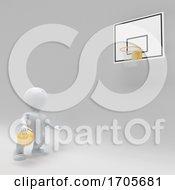 Poster, Art Print Of 3d Morph Man Playing Basketball