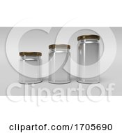 Poster, Art Print Of Set Of Glass Jars For Canning And Preserving