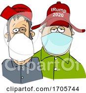Cartoon Trump Supporters Wearing Face Masks by djart