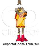 Poster, Art Print Of Cartoon Basketball Player Wearing A Mask