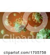 3d Chinese Coronavirus Covid 19 Superbug Microscopic Bacterial Representation