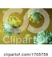 3d Coronavirus Chinese Covid 19 Superbug Microscopic Bacterial Infection Representation