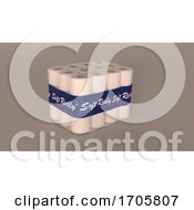 Bulk Packet Of Shrink Wrapped Toilet Rolls by KJ Pargeter