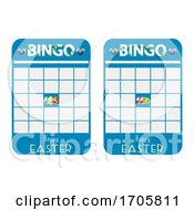 Poster, Art Print Of Easter Blank Decorated Bingo Cards