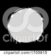 Barbwire Circular Border Copy Space On Black