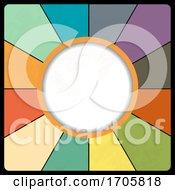Retro Vintage Circular Border On Multicolour Background